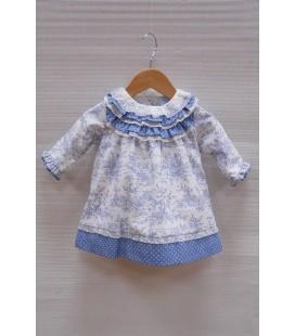Vestido bebe acuarelado