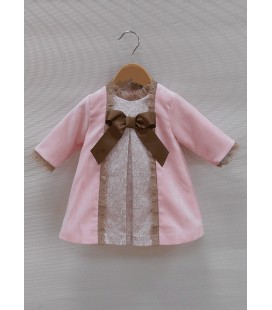 Vestido bebe rosa
