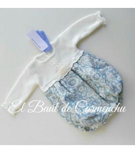 Rana cuerpo tricotos azul