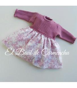 Vestido cuerpo tricotos toile