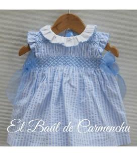 Vestido rayas azules