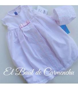 Faldon bebe rosa y capota
