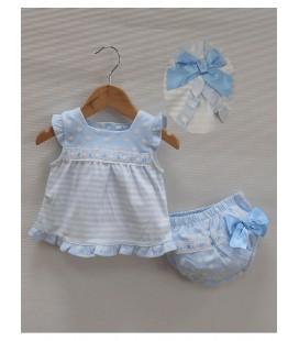 Vestido bebe azul